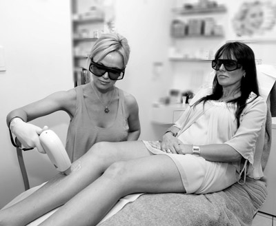 The process of permanent laser hair removal at Respect